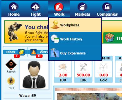 Pilih Work -> Workplace -> Work Now